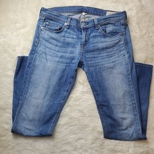 Rag & bone THE DRE blue stretchy jeans size 29